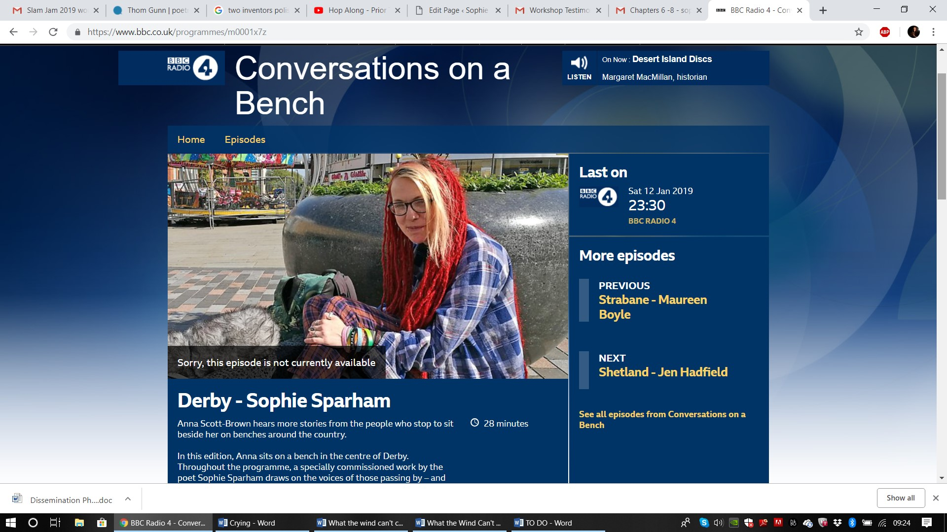 Conversations on a Bench, BBC Radio 4